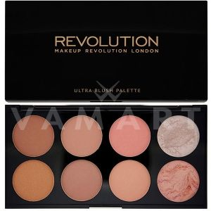 Makeup Revolution London Ultra Blush Palette Hot Spice Палитра ружове 8 цвята
