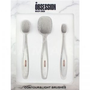 Makeup Revolution London Obsession Marble Contour and Light Brush Комплект четки за грим