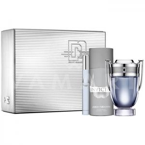 Paco Rabanne Invictus Eau de Toilette 100ml + Eau de Toilette 10ml + Deodorant Spray 150ml мъжки комплект