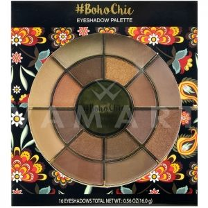 Markwins International Boho Chic Eyeshadow palette Палитра сенки за очи 16 цвята