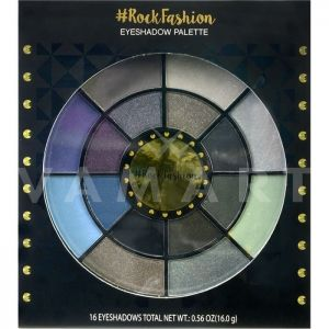 Markwins International Rock Fashion Eyeshadow palette Палитра сенки за очи 16 цвята