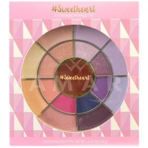 Markwins International Sweetheart Eyeshadow palette Палитра сенки за очи 16 цвята