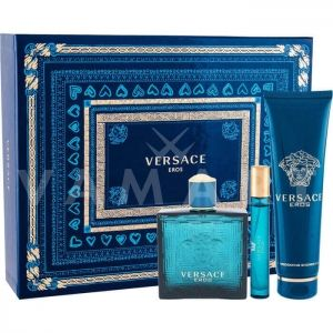 Versace Eros Eau De Toilette 100ml + Shower gel 150ml + Eau De Toilette 10ml мъжки комплект