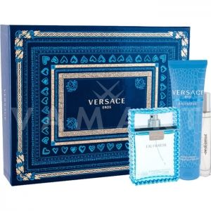 Versace Man Eau Fraiche Eau De Toilette 100ml + Eau De Toilette 10ml + Bath & Shower Gel 150ml мъжки комплект