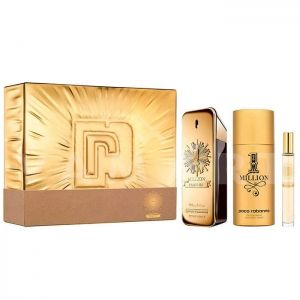 Paco Rabanne 1 Million Parfum Eau De Parfum 100ml + Eau De Parfum 10ml + Deodorant Spray 150ml мъжки комплект