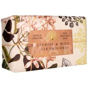 The English Soap Company Anniversary Collection Jasmine & Wild Strawberry Луксозен растителен сапун 200g