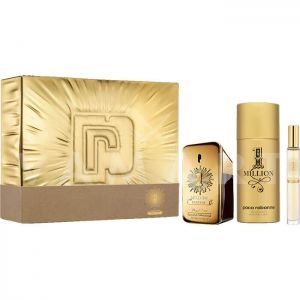 Paco Rabanne 1 Million Parfum Eau De Parfum 50ml + Eau De Parfum 10ml + Deodorant Spray 150ml мъжки комплект