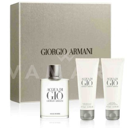 Armani Acqua di Gio homme Eau De Toilette 100ml + Shower Gel  75ml + After Shave Balm 75ml мъжки комплект