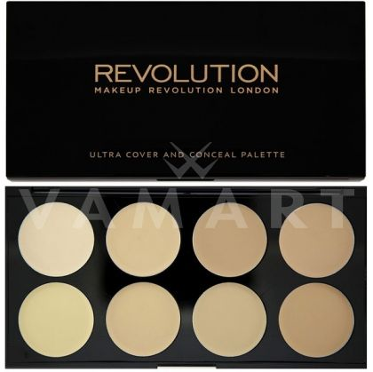 Makeup Revolution London Cover & Conceal Palette Light Палитра коректори 8 цвята