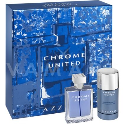 Azzaro Chrome United Eau de Toilette 50ml + Deodorant Stick 75ml мъжки комплект