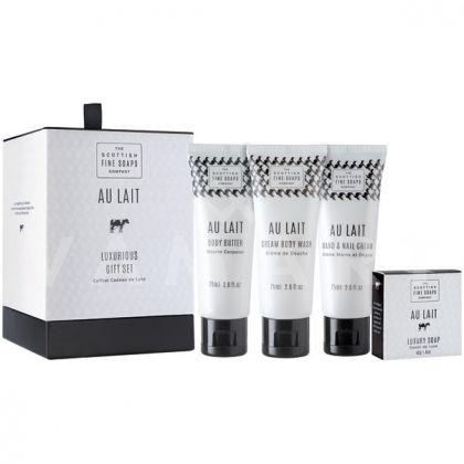 Scottish Fine Soaps Au Lait Козметичен комплект 4 продукта