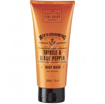 Scottish Fine Soaps Thistle & Black Pepper Body Wash 200ml мъжки душ гел