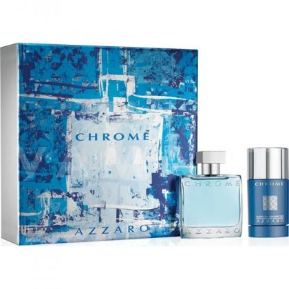 Azzaro Chrome Eau de Toilette 100ml + Deodorant Stick 75ml мъжки комплект