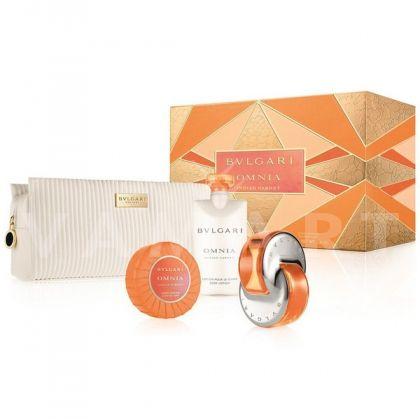 Bvlgari Omnia Indian Garnet Eau de Toilette 65ml + Body Lotion 75ml + Soap 75g + Чанта дамски комплект