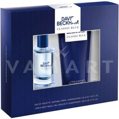 David Beckham Classic Blue Eau de Toilette 40ml + Shower Gel 200ml мъжки комплект