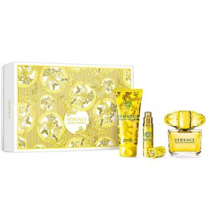 Versace Yellow Diamond Eau de Toilette 90ml + Body Lotion 100ml + Eau de Toilette 10ml дамски комплект