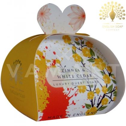 The English Soap Company Luxury Gift Zinnia & White Cedar Луксозен сапун 3 x 20g