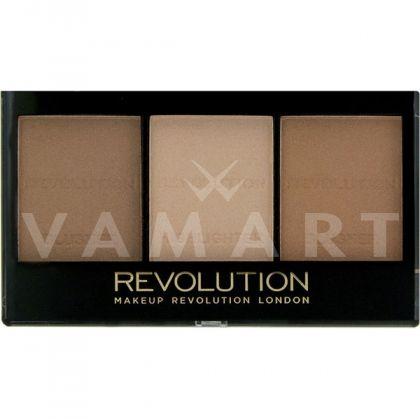 Makeup Revolution London Ultra Sculpt & Contour Kit Light / Medium Палитра контури за лице