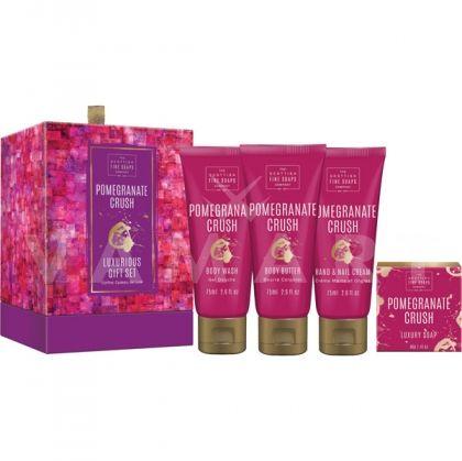Scottish Fine Soaps Pomegranate Crush Козметичен комплект за тяло 4 продукта