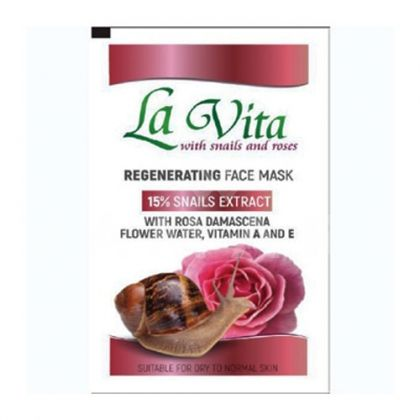 Revive La Vita Snails & Roses Regenerating Face Mask Регенерираща маска за лице с 15% екстракт от охлюв и розова вода