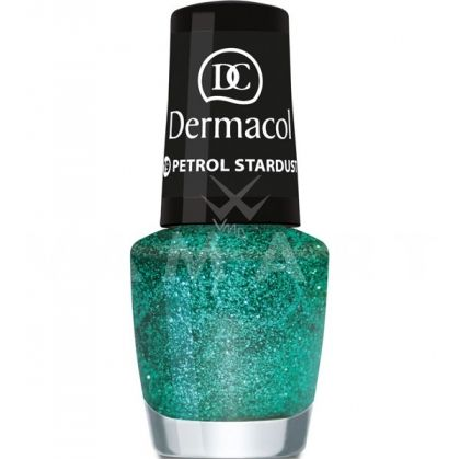 Dermacol Nail Polish With Effect Glitter Touch 19 Petrol Stardust