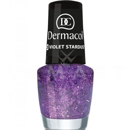 Dermacol Nail Polish With Effect Glitter Touch 20 Violet Stardust