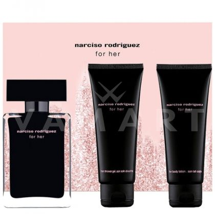 Narciso Rodriguez for Her Eau de Toilette 50ml + Body Lotion 75ml + Shower Gel 75ml дамски комплект