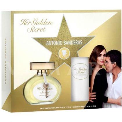 Antonio Banderas Her Golden Secret Eau de Toilette 80ml + Deodorant 150ml дамски комплект
