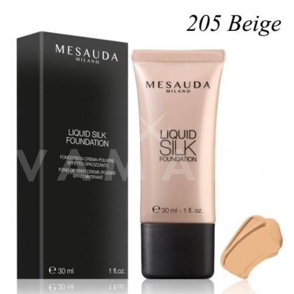 Mesauda Milano Liquid Silk Foundation SPF 30 Матиращ фон дьо тен 205 Beige
