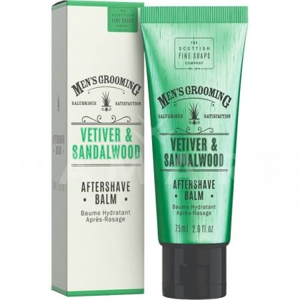 Scottish Fine Soaps Vetiver & Sandalwood Aftershave Balm 75ml Балсам за след бръснене