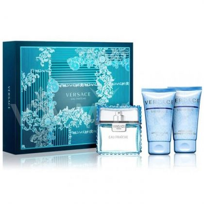 Versace Man Eau Fraiche Eau De Toilette 50ml + Bath & Shower Gel 50ml + Aftershave Balm 50ml мъжки комплект