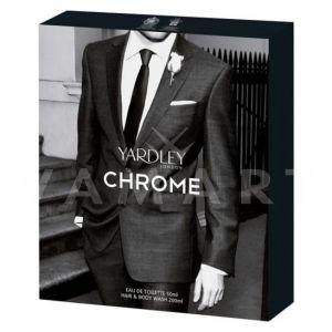 Yardley London Chrome Eau de Toilette 50ml + Hair & Body Wash 200ml мъжки комплект