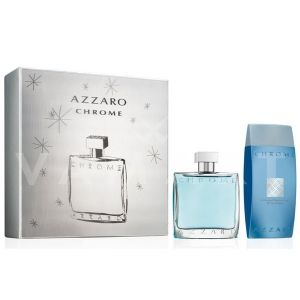 Azzaro Chrome Eau de Toilette 100ml + All Over Shampoo 200ml  мъжки комплект
