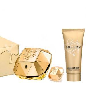 Paco Rabanne Lady Million Eau de Parfum 50ml + Eau de Parfum 5ml + Body Lotion 100ml дамски комплект