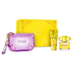 Versace Yellow Diamond Eau de Toilette 90ml + Body Lotion 100ml + Несесер дамски  комплект