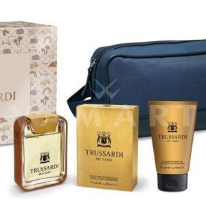 Trussardi My Land Eau de Toilette 100ml + Shampoo & Shower Gel 100ml + Несесер мъжки комплект