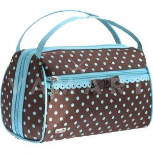 Reed Сини точки Козметична чанта с огледало