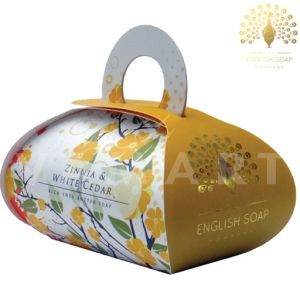 The English Soap Company Zinnia & White Cedar Луксозен сапун 260g