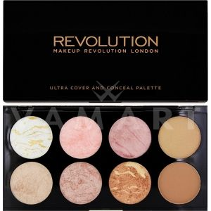 Makeup Revolution London Ultra Blush Palette Golden Sugar Палитра ружове 8 цвята