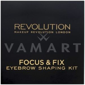 Makeup Revolution London Focus & Fix Eyebrow Shaping Kit Light Medium Комплект за вежди