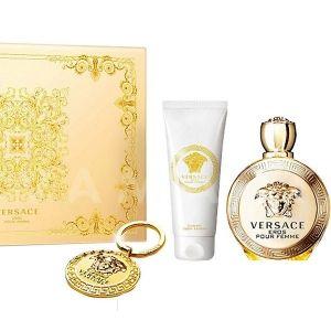 Versace Eros Pour Femme Eau de Parfum 100ml + Body Lotion 100ml + Ключодържател дамски комплект
