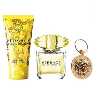 Versace Yellow Diamond Eau de Toilette 90ml + Body Lotion 100ml + Ключодържател дамски комплект