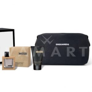 Dsquared2 He Wood Eau de Toilette 50ml + Hair&Body Wash 100ml + Несесер мъжки комплект