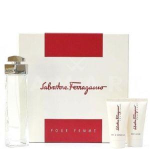 Salvatore Ferragamo Pour Femme Eau de Parfum 100ml + Body Lotion 50ml + Shower Gel 50ml дамски комплект