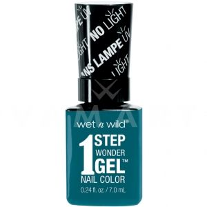Wet n Wild Гел Лак за нокти 1 Step WonderGel Nail Color 7061 Un-Teal Next Time