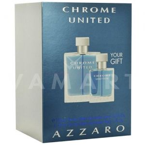 Azzaro Chrome United Eau de Toilette 100ml + Eau de Toilette 30ml мъжки комплект