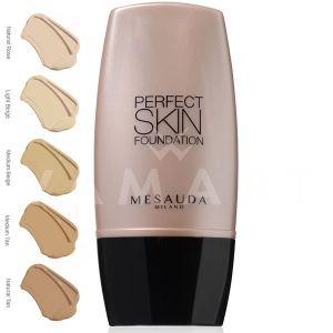 Mesauda Milano Perfect Skin Foundation Дълготраен фон дьо тен 104 Medium Tan