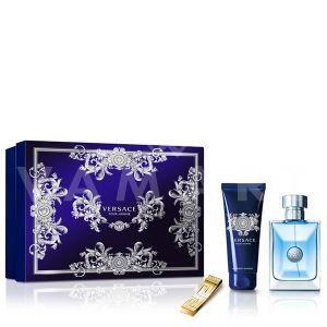 Versace Pour Homme Eau De Toilette 100ml + Shower Gel 100ml + Щипка за пари мъжки комплект