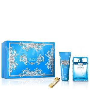 Versace Man Eau Fraiche Eau De Toilette 100ml + Bath & Shower Gel 100ml + Щипка за пари мъжки комплект