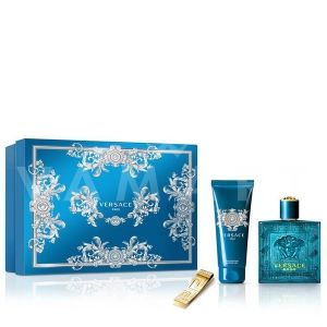 Versace Eros Eau De Toilette 100ml + Shower gel 100ml + Щипка за пари мъжки комплект